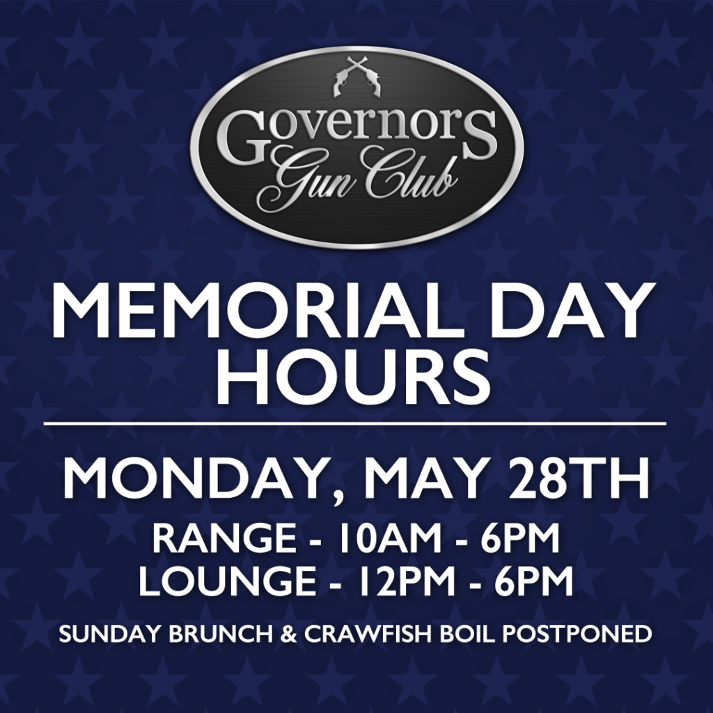 Memorial Day - Closing at 6pm