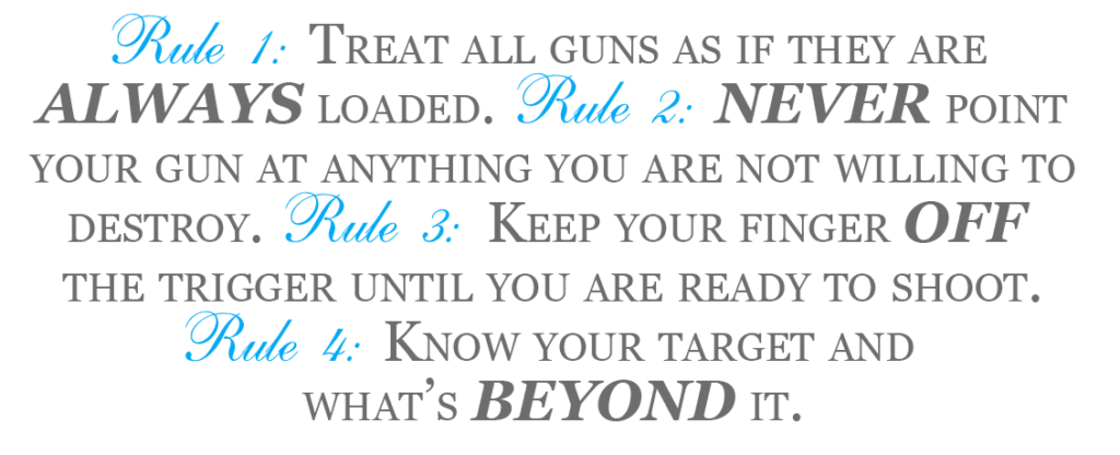 4 Range Rules of Firearm Safety