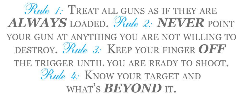 4 Range Rules of Firearm Safety