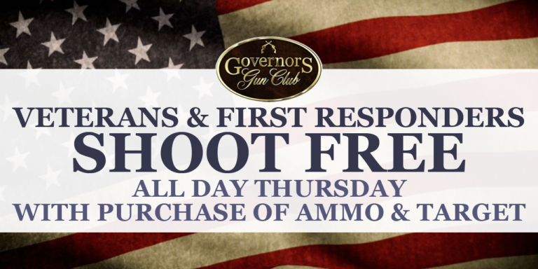 Veterans, First Responders, and Active Military Shoot Free