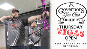Thursday Night Open Archery Vegas League @ Governors Gun Club Kennesaw