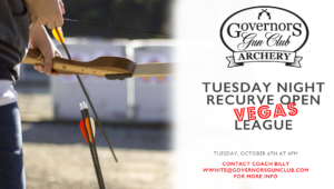 Tuesday Night Recurve League @ Governors Gun Club Kennesaw