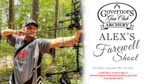 Alex's Farewell Archery Shoot @ Governors Gun Club Kennesaw